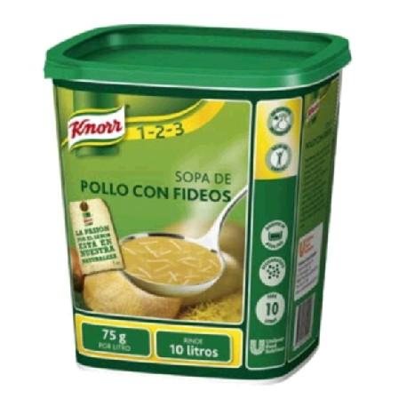 SOPA POLLO FIDEO 6/750g KNORR