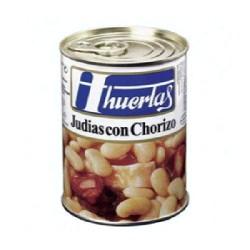 JUDIAS CHORIZO 12/500g HUERTAS