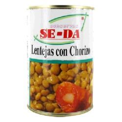 LENTEJA CHORIZO 12/500g SE-DA