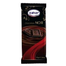 CHOCOLATE PURO 80/70g ZAHOR