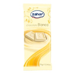 CHOCOLATE BLANCO 80/70g ZAHOR
