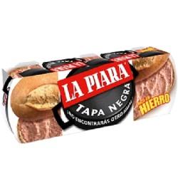 PATE P-3 TAPA NEGRA 8/(3x75g) LA PIARA
